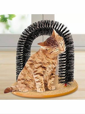 Cat Scratch Post Arch Play Massager Groomer Kitty Kitten Play Grooming Scratcher