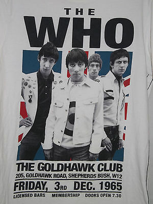 The Who 1965 Goldhawk Club Poster Reproduction Adult Medium Rock Music T-Shirt
