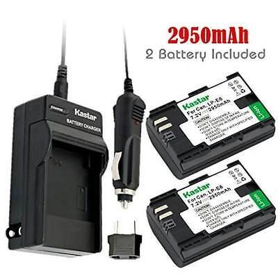 2x Kastar Battery and 1x Normal Charger for Canon LP-E6