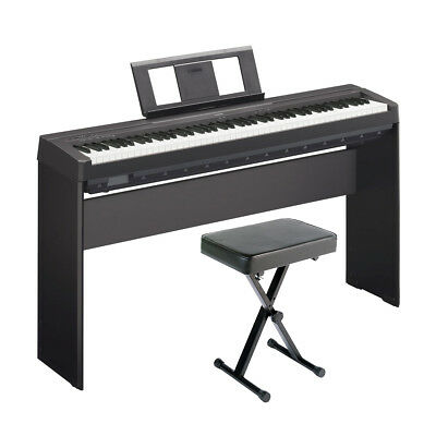 Yamaha P-45 Holiday Home Bundle in Black