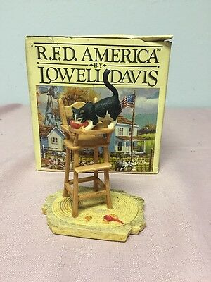 "Schmid Border Fine Art Scotland Lowell Davis  ""leftovers "" Signed Figurine"