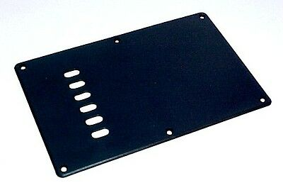 SBC2BK Backplate Cover to suit Stratocaster Style Guitar. - 2mm. Black Plastic