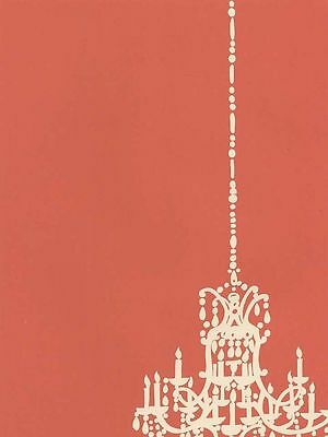 Contemporary Salmon with Chandelier Wallpaper CD046692