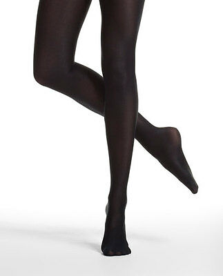 Danskin 1331 Women's Size A (Small) Black Ultra Shimmery Footed Tights