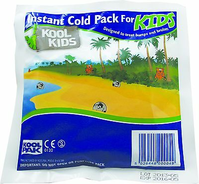 Koolpak Kool Kids Instant Cold Children Ice Packs Sports Outdoor First Aid Kit