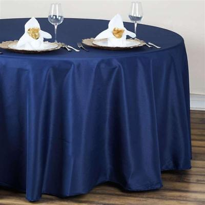 Navy Blue 120 in. Polyester Seamless Tablecloth~Wedding~NEW