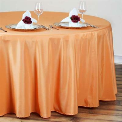 Orange 120 in. Polyester Seamless Tablecloth~Wedding~NEW