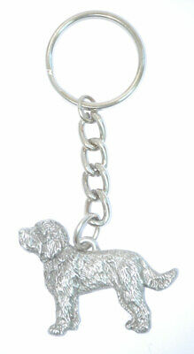 Labradoodle Pewter Silver Keychain Key Chain Ring