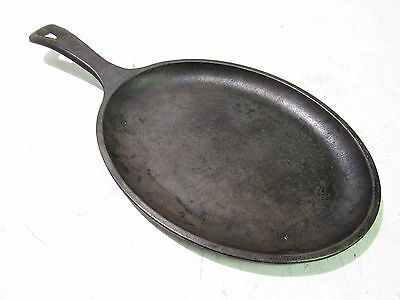 "Lodge 10"" X 7"" Cast Iron Oval Griddle Fajita Skillet (Lot Of 2) ***xlnt***"