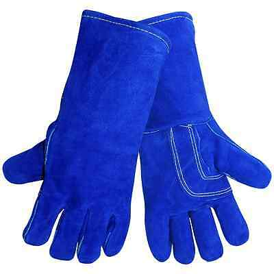 Welding Gloves, Blue Premium Leather, P/N# 1200KB, Global Glove, Sold/Pair