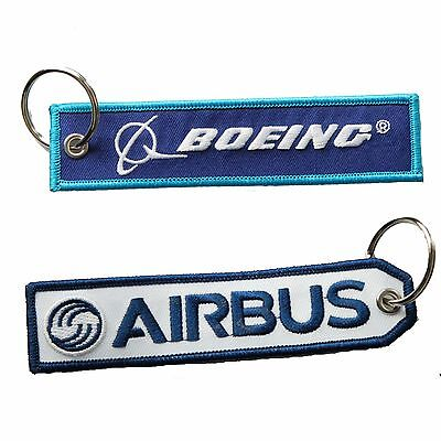 """Airbus""+""If it ain't Boeing I'm not going"" Keychains"