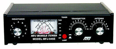 MFJ-945E 1.8 To 52MHz Manual Tuner With Wattmeter