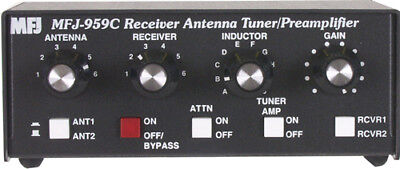 MFJ-959C 1.6 To 30MHz Receiver With Built In 20dB Preamp