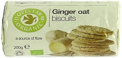 Doves Farm | Organic Ginger Oat Biscuits | 12 x 200G. Delivery is Free