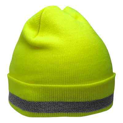 Hi Visibility hat, reflective winter polyester stretch hat, GLO-H3