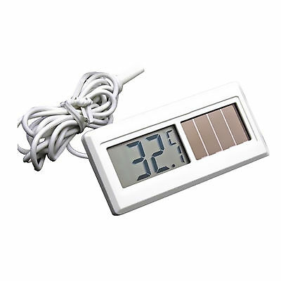 Potable Solar Powered Digital LCD Thermometer -50℃ ~ 150℃ Sensor Cable  Hot