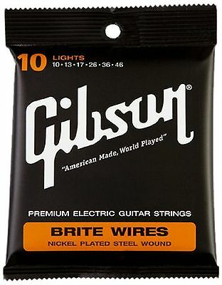 Gibson Gear Brite Wires Electric Guitar Strings Light (10-46)