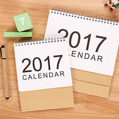 2017 Desk Pad Calendar Folding Chipboard Monthly  Daily Planned Supply 2 Size