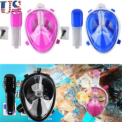 US Water Sports Swimming Full Face Mask Snorkeling Diving SCUBA Mask For Breath