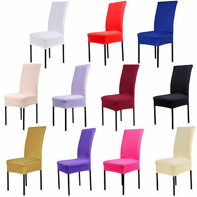 Chair Covering Hotel Conjoined Dining Elastic Covers Wedding Party Banquet Decor