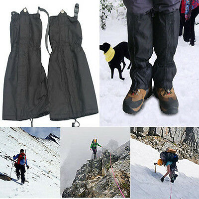 1 Pair Waterproof Outdoor Hiking Walking Climbing Hunting Snow Legging Gaiters G