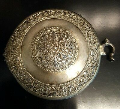 Authentic 18th Century Silver Alloy Medieval Ottoman ornate buckle 156.8grams