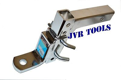 """10"""" Chrome Hitch Ball Mount Adjustable Hitch Drop Ball Mount 2"""" Trailer Receiver"""