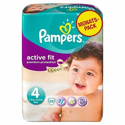 Pampers Active Fit Size 4 (Maxi) Monthly Pack - 168 Nappies. Delivery is Free