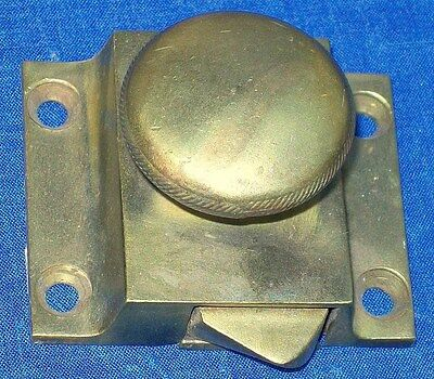 Antique 1890 Brass Latch, Old Ice Box Lock Vintage Cupboard Handle Vtg Lock Knob