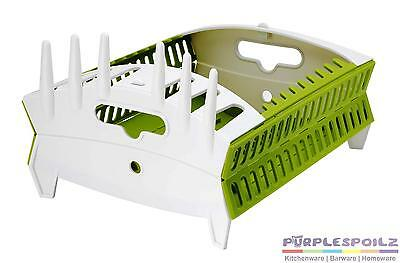 NEW FOZZILS COLLAPSIBLE COMPACT DISH RACK Dishrack Drainer Camping Caravan