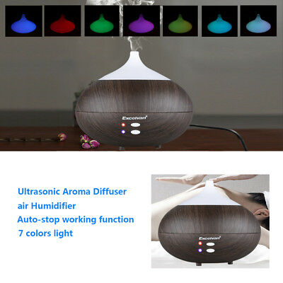 LED Ultrasonic Essential Oil Aroma Diffuser Air Humidifier Purifier Aromatherapy