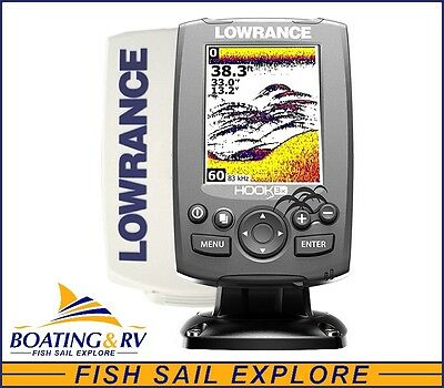 Lowrance HOOK 3x FishFinder + 83/200 Transducer New HOOK + Sun Cover & FREE POST