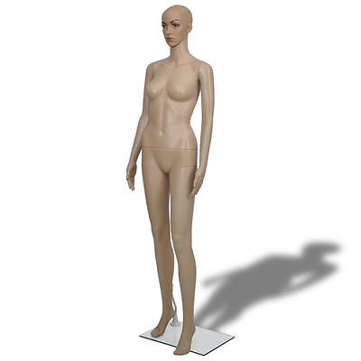 Female Mannequin Full Body PE Realistic Display Head Turns Dress Form w/ Base