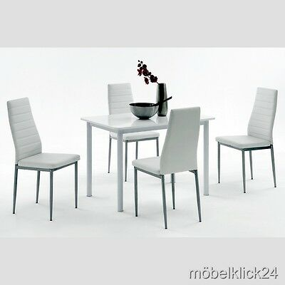 bistrotisch esstisch weiss blanche 80cm hochglanz design m bel k chentisch tisch eur 139 95. Black Bedroom Furniture Sets. Home Design Ideas