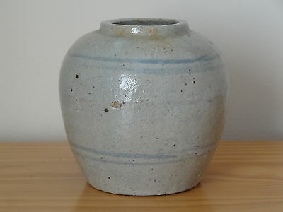 c.16th - Antique Korean Joseon Dynasty Stoneware Ginger Jar Pot Vase
