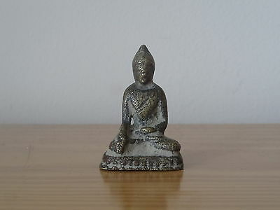 Ancient Antique Asian Chinese China  Bronze Brass Sitting Buddha Miniature