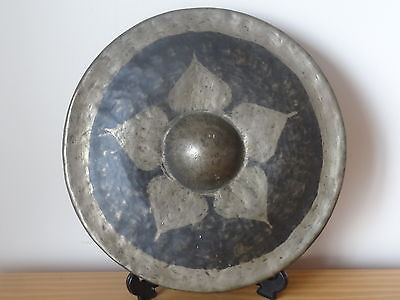 c.19th - Antique Vintage Chinese China Bronze Temple Gong