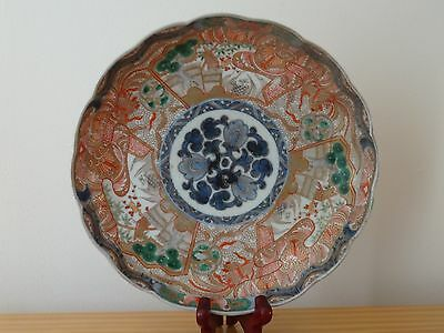 c.17th - Antique Vintage Japan Japanese Edo Period Imari Porcelain Plate Charger