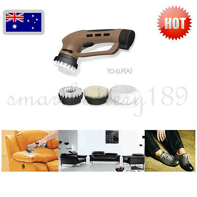 Electric Rechargeable Shoe Polisher Portable Power Handheld Shoe Sofa Shine Kit