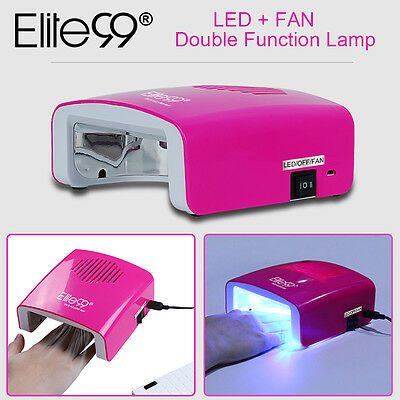 Elite99 Dual-function Nail Lamp Dryer LED Fast Cure Gel Polish With Timers 5.5W