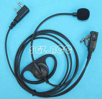 D-Shape Earpiece/Headset Boom Mic VOX For Kenwood Radio TH-K4 TH-K4AT TH-K4E