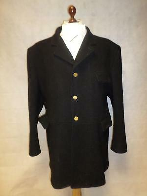 """*pytchley Mears Mens Black Hunting Coat/jacket- Brass Buttons- Chest Size 48""""*"""