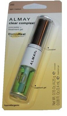 Almay Clear Complexion Treatment Gel Concealer 200 Light/Medium Carded