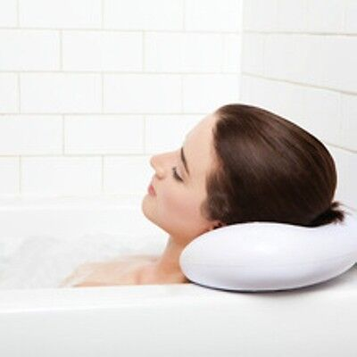 Luxury Spa Comfort Foam Bath Pillow White / Head Neck Rest Body Orthopedic
