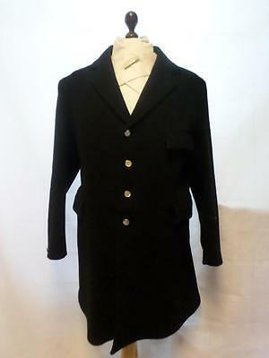 "*r.h Mears Mens Black Hunting Coat/jacket-Pure New Wool- Chest Size 46""*"