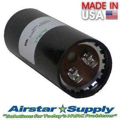 233-280 MFD uf 110-125 VAC Round Electric Motor Start Capacitor • Made in USA