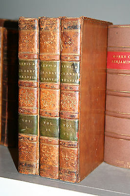RARE 1815 3V The Travels of Captains Meriwether Lewis and William Clark w/lg map