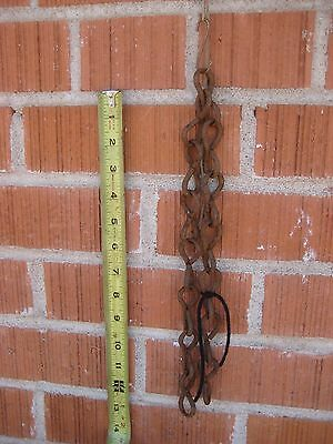 "Vintage ***  5/32"" Steel Size  *** 24"" Length Double Loop Chain Rusted Art Decor"