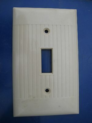 Vintage SIERRA ELECTRIC 1-Gang Toggle Switch Wall Plate USA