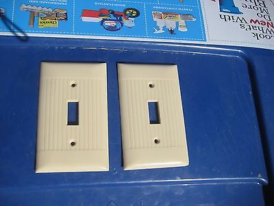 Vintage ***   SIERRA ELECTRIC   *** 1-Gang Toggle Switch Wall Plate Set of 2 USA